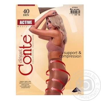 Tights Conte Active natural polyamide for women 40den 4size - buy, prices for Novus - image 1