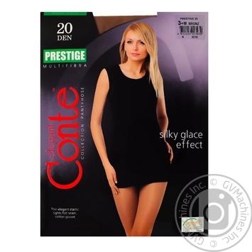 Tights Conte Prestige bronze polyamide for women 20den 3size - buy, prices for Novus - image 1