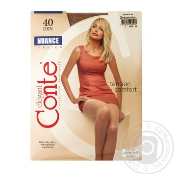 Tights Conte natural polyamide for women 40den 3size - buy, prices for Novus - image 1