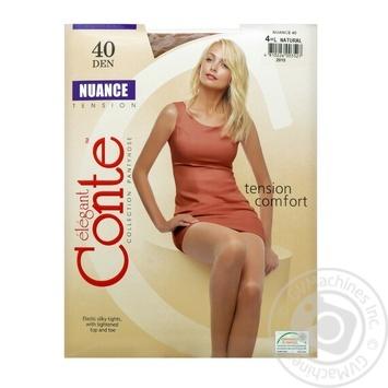 Колготы Conte Nuance 40 Den р.4 natural шт - купить, цены на МегаМаркет - фото 1