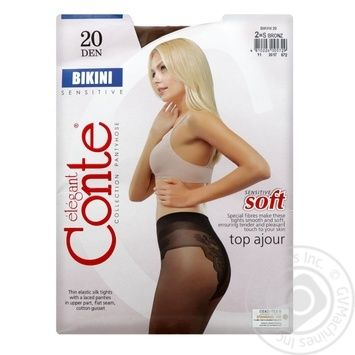 Tights Conte bronze polyamide for women 20den 2size - buy, prices for Novus - image 1
