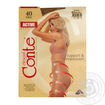 Колготы Conte Active 40 Den р.2 natural шт - купить, цены на Novus - фото 1