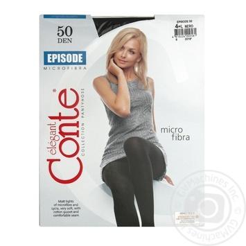Колготи Conte Episode 50 Den р.4 nero шт - купити, ціни на Novus - фото 1
