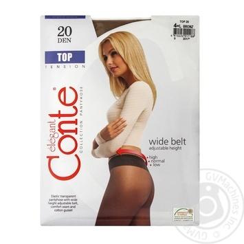 Колготы Conte Top 20 Den р.4 bronz шт - купить, цены на Novus - фото 1