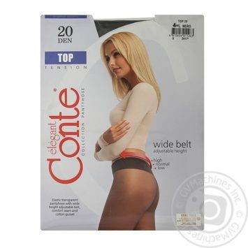 Колготы женские Conte Top 20ден р.4 Nero - купить, цены на Novus - фото 6