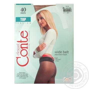 Колготы Conte Top 40 Den р.4 natural шт - купить, цены на Novus - фото 1
