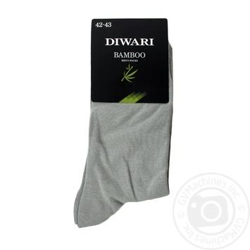 Носки мужские DiWaRi Bamboo 000 серый р.27 шт - купить, цены на Novus - фото 1