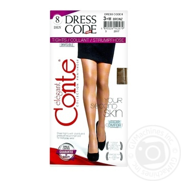Tights Conte bronze for women 3size - buy, prices for Novus - image 1