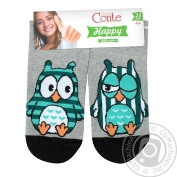 Conte Happy Cotton Gray Women's Socks 25s - buy, prices for Novus - image 1
