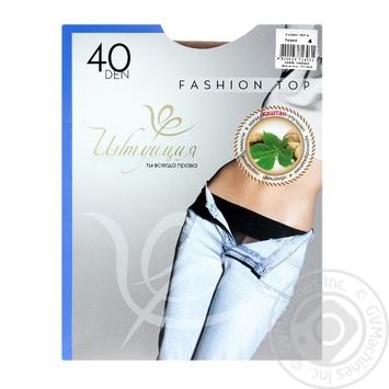 Колготи жіночі Інтуіція Fashion Top 40 4 vizone - купить, цены на Novus - фото 1