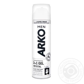 Гель для гоління Arko Crystal 200мл - купити, ціни на Восторг - фото 1
