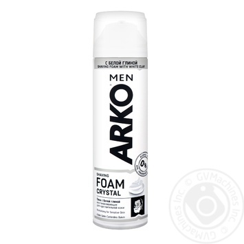 Arko Crystal Shaving foam 200ml - buy, prices for Metro - image 1