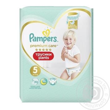 Подгузники-трусики Pampers Premium Care Pants размер 5 Junior 12-17кг 20шт - купить, цены на Ашан - фото 3