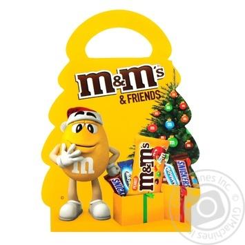 Набор подарочный M&M's & Friends Новогодняя елка 105г - купить, цены на Novus - фото 3