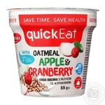 QuickEat Porridge with apple and cranberry 55g