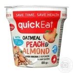 QuickEat Porridge with peach and almond 55g