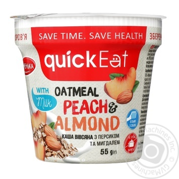 QuickEat Porridge with peach and almond 55g - buy, prices for Furshet - image 1