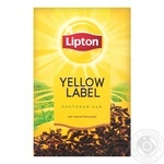 Lipton Yellow Label Tea black leaf 80g - buy, prices for MegaMarket - image 1