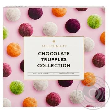 Конфеты Millennium Коллекция шоколадных трюфелей ассорти 200г - купить, цены на ЕКО Маркет - фото 1
