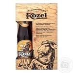 Пиво Velkopopovicky Kozel світле 4% + темне 3,7% 0,45л + келих 0.5л набір