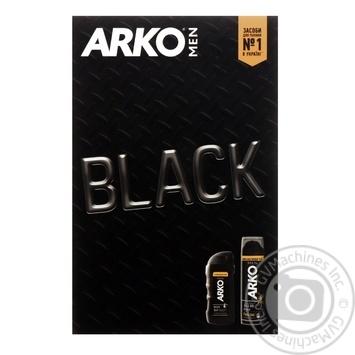 Набір Arko Гель д/гоління Black 200мл+Бальзам 260мл - купити, ціни на МегаМаркет - фото 1