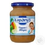 Karapuz Puree Pear and apple for children from 4 months 200g