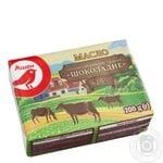 Масло Ашан Шоколадное сладкосливочное с какао 62,5% 200г