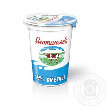 Yagotynska Sour Cream 15% 350g