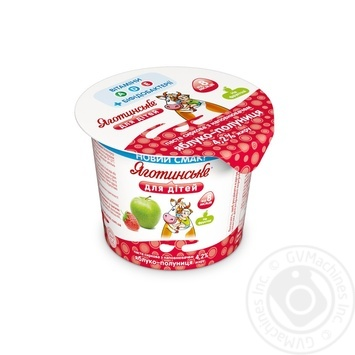 Yagotynske For Children Strawberry-Apple For 8 + Months Babies 14 Cottage Cheese 4.2% 100g