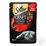 Sheba craft cat food with beef in sauce 85g