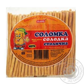 Соломка солодка Vladka столична 250г - купити, ціни на Метро - фото 1