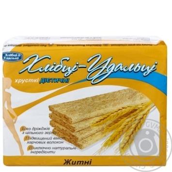 Хлібці Хлібці-Удальці житні хрусткі дієтичні 100г - купити, ціни на МегаМаркет - фото 1