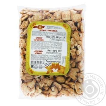 Крекер ХБФ Бісквіт-Шоколад Буковки 400г - купити, ціни на МегаМаркет - фото 1