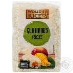 Рис клейкий World`s Rice Glutinous 500г