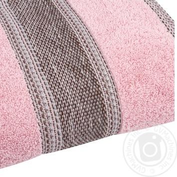 Полотенце Saffran Fluffy махровое розовое 50х85см - купить, цены на Novus - фото 2