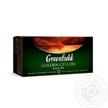 Чай Грінфілд Голден Цейлон чорний 2г х 25шт - купити, ціни на Novus - фото 1