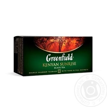 Чай Гринфилд Кениан Санрайз черный 2г х 25шт - купить, цены на Novus - фото 1