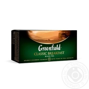 Чай Грінфілд Класік Брекфест чорний 2г х 25шт - купити, ціни на Novus - фото 1