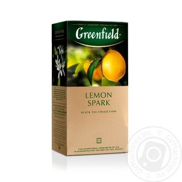Чай Greenfield чорний Lemon Spark 25шт*1.5г - купити, ціни на Метро - фото 1