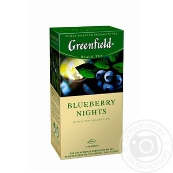 Чай черный Greenfield Blueberry Nights 25шт*1,5г 37,5г - купить, цены на Восторг - фото 1