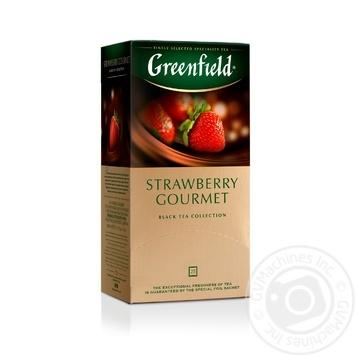 Чай Greenfield чорний Strawberry Gourmet 25шт*1.5г - купити, ціни на Метро - фото 1