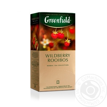 Greenfield Wildberry Rooibos herbal tea 25pcs*1.5g - buy, prices for Metro - image 1