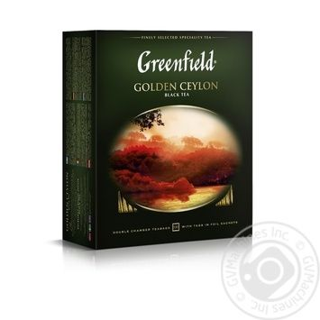 Tea Greenfield black packed 100pcs 200g - buy, prices for MegaMarket - image 1