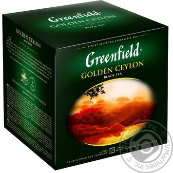 Чай Greenfield чорний Golden Ceylon 120пак - купити, ціни на Метро - фото 1