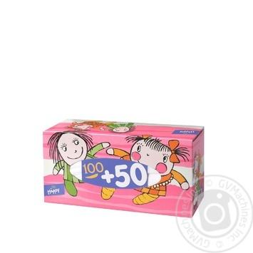 Платочки бумажные Bella Baby Happy универсальные двухслойные 150шт - купить, цены на МегаМаркет - фото 2