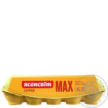 Яйца куриные Ясенсвит Супер Макс С0 10шт - купить, цены на Novus - фото 2
