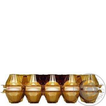 Яйцо куриное Селянские С1 10шт (цвет товара на фото может отличаться от цвета товара на полке) - купить, цены на Novus - фото 2