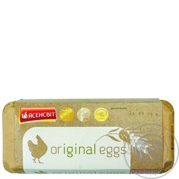 Яйца куриные Ясенсвит Original eggs С0 10шт - купить, цены на Восторг - фото 1