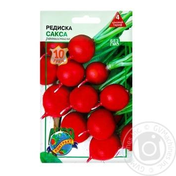 Насіння Агроконтракт Редиска Сакса 10г - купити, ціни на МегаМаркет - фото 1