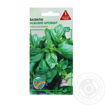 Семена Агроконтракт Базилик Нежный аромат 0.5г - купить, цены на МегаМаркет - фото 1